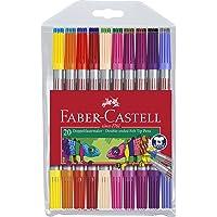 Faber-Castell 5062151119 Çift Taraflı Keçeli Kalem, 20 Renk