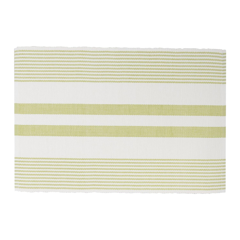 C/&F Home Sunrise /& White Cotton Placemat Set of 6 Rectangular Placemat Set of 6 Sunrise Yellow