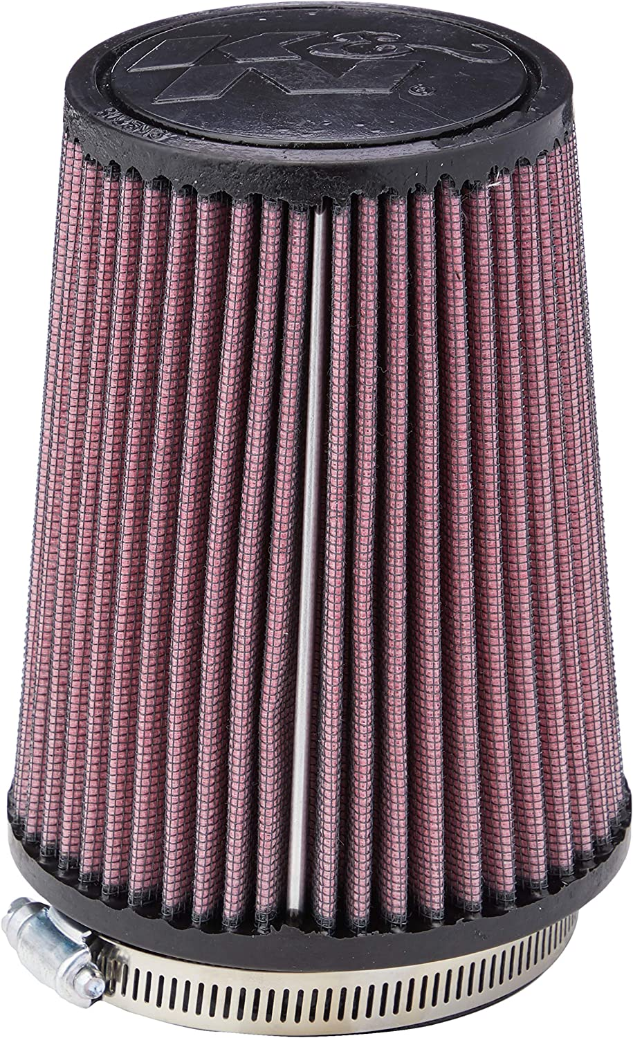 K&N Universal Clamp-On Air Filter: High Performance, Premium, Washable, Replacement Filter: Flange Diameter: 3 In, Filter Height: 5.75 In, Flange Length: 0.75 In, Shape: Round Tapered, RU-5111