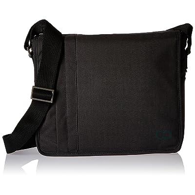 11 Inch MacBook Air / 12 Inch MacBook / Laptop Casecrown Canvas Horizontal - Campus Messenger Bag (Black Stealth)