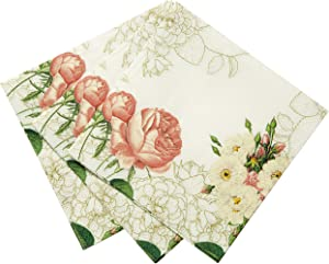 Talking Tables Vintage Floral Napkins   Great For Bridal Shower, Baby Shower, Tea Party, Wedding and Anniversary   Paper, 20 Pack