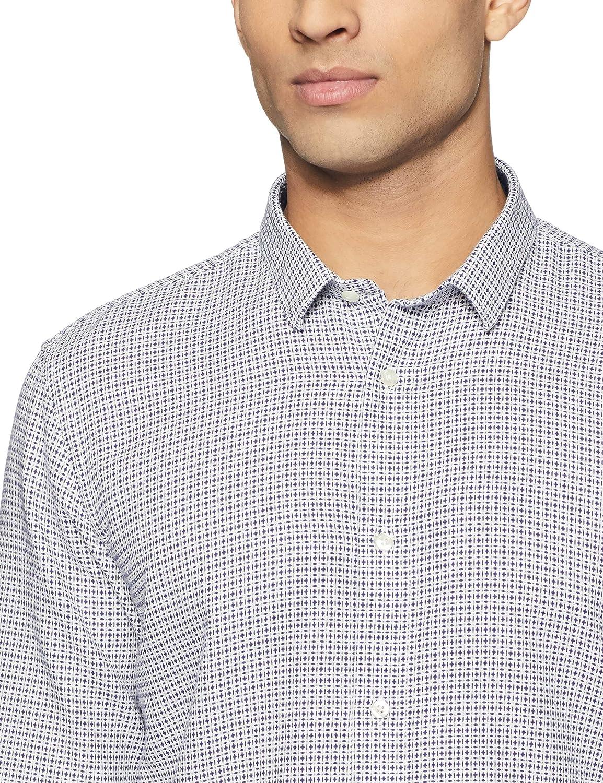 Scotch /& Soda Mens Slim Fit Classic Shirt in Structured Weave