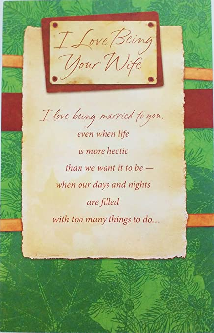 Amazon i love being your wife happy birthday to husband i love being your wife happy birthday to husband greeting card quotthe m4hsunfo
