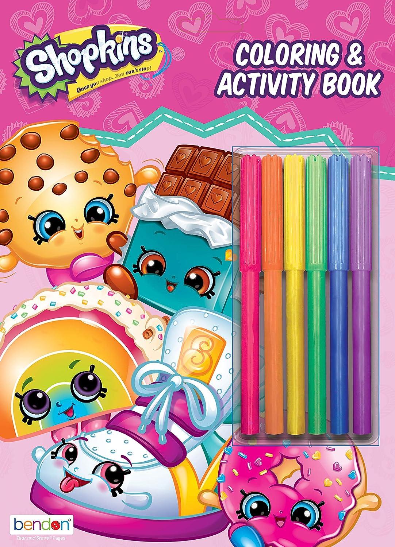 28731 Activity Books Children Grades 1-2 JUVENILE FICTION Bendon Shopkins 224 Page Coloring /& Activity Book Including Stickers Activity Books