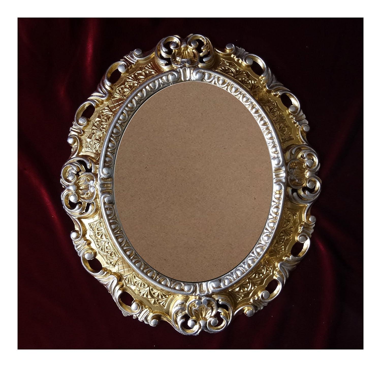 Lnxp BILDERRAHMEN Antik Barock in der Farbe: Gold/Silber Dualcolor ...