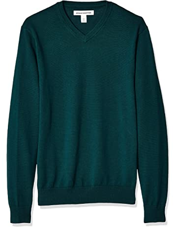 43a8844b4486 Amazon Essentials Men's V-Neck Sweater