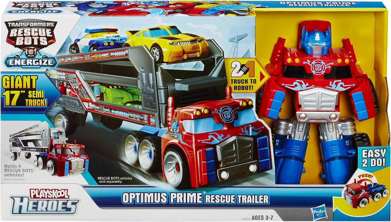 "Playskool Heroes Optimus Prime 17/"" Rescue Bots Trailer Kohl/'s Exclusive New"