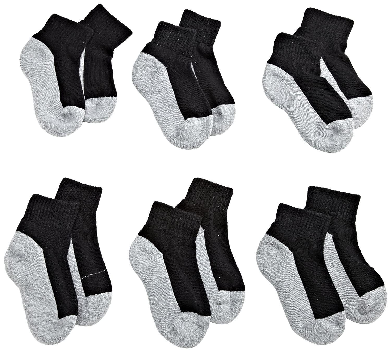 Jefferies Socks Boys Seamless Quarter-Height Half Cushion Socks (Pack of 6)