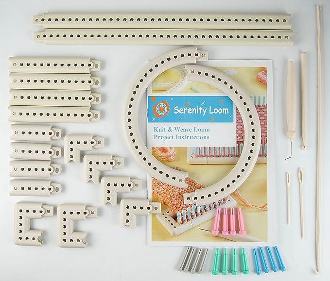 Multi-función del arte hilo 5000-100 tejido de punto y telar de Kit ...