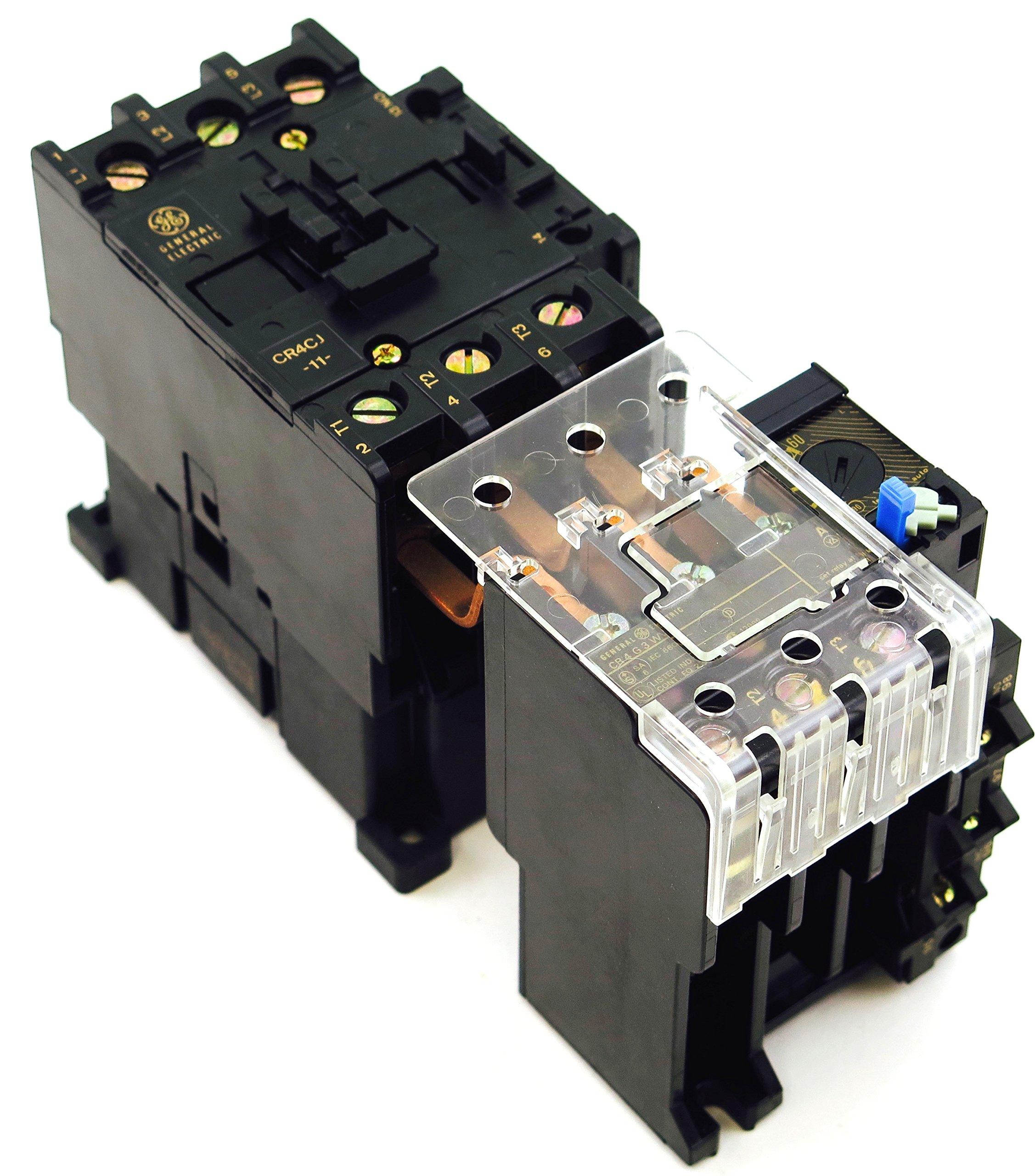 GE CR4CJA-CR4G3WV 52-60AMP MAGNETIC STARTER 120V AC COIL