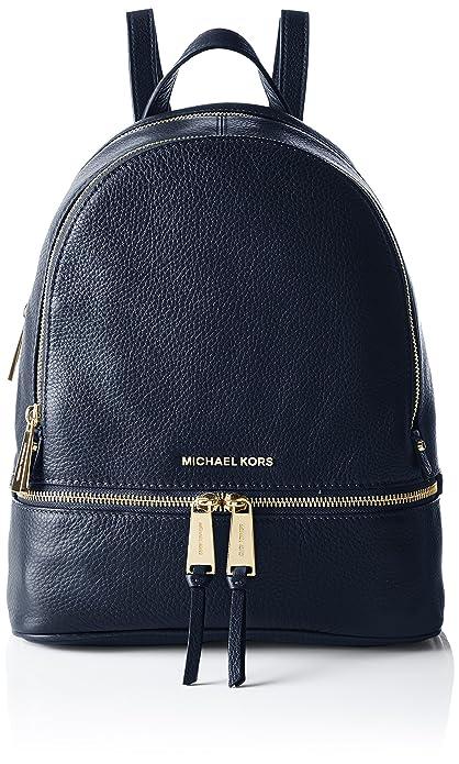 Michael Kors Rhea Zip, Bolso Mochila para Mujer, Azul (Admiral), 25.4x29.9x11.4 cm (W x H x L): Amazon.es: Zapatos y complementos