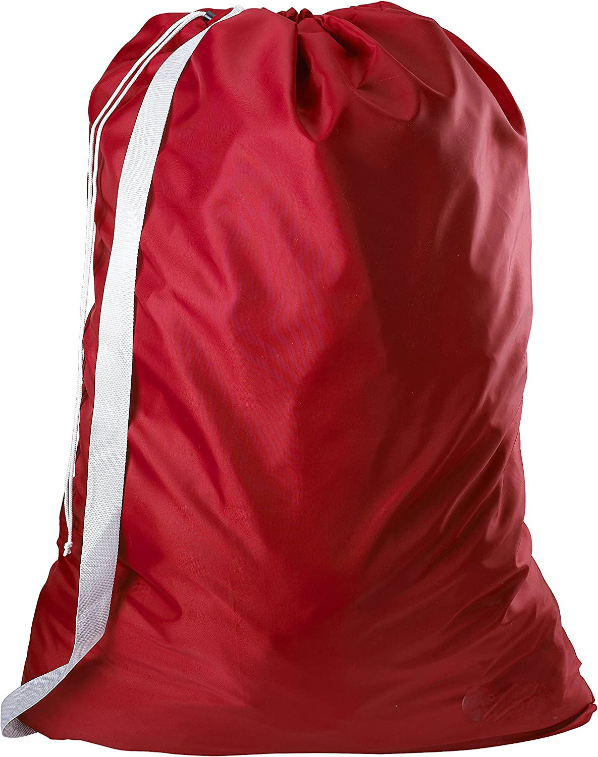 "Nylon Laundry Bag with Shoulder Strap, Red - 30"" X 40"" - Commercial Grade 100% Nylon, Designed for Heavy Duty Use, College Laundry Bags, Laundromat and Household Storage - Made in The USA"