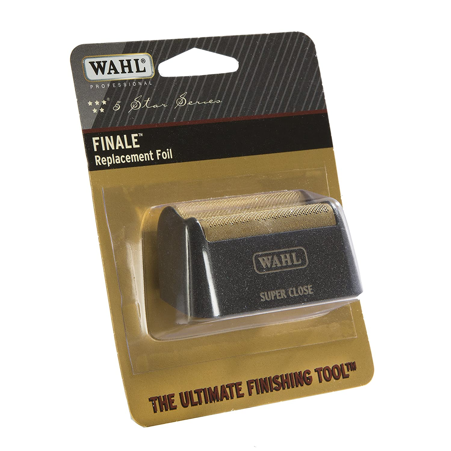 Wahl Professional 5-Star Series Finale Shave Replacement Foil #7043-100 – Hypo-Allergenic For Super Close Bump Free Shaving – Black 0043917101958