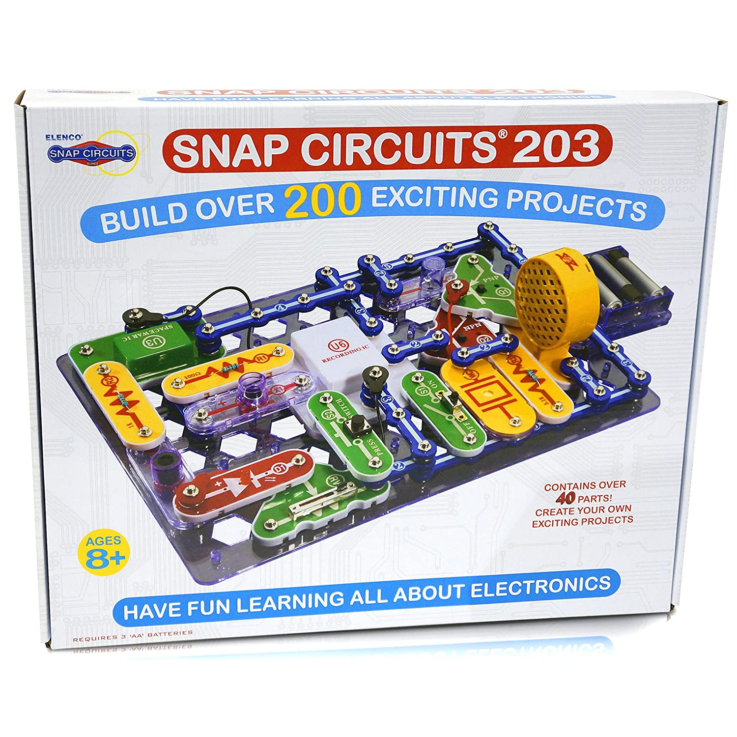 Amazonsmile Snap Circuits Jr Sc100 Electronics Discovery Kit 100 Amazon Com Sc Rh