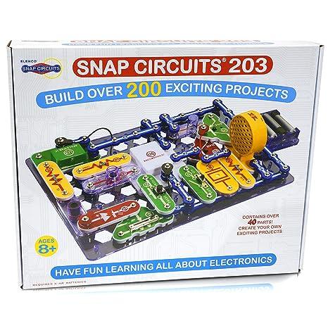amazon com snap circuits 203 electronics discovery kit toys games rh amazon com