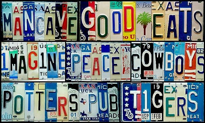 Amazon com: Custom License Plate Signs: Handmade