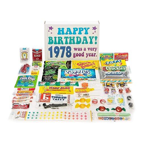 Woodstock Candy 1978 40th Birthday Gift Box Nostalgic Retro Assortment For 40 Year Old