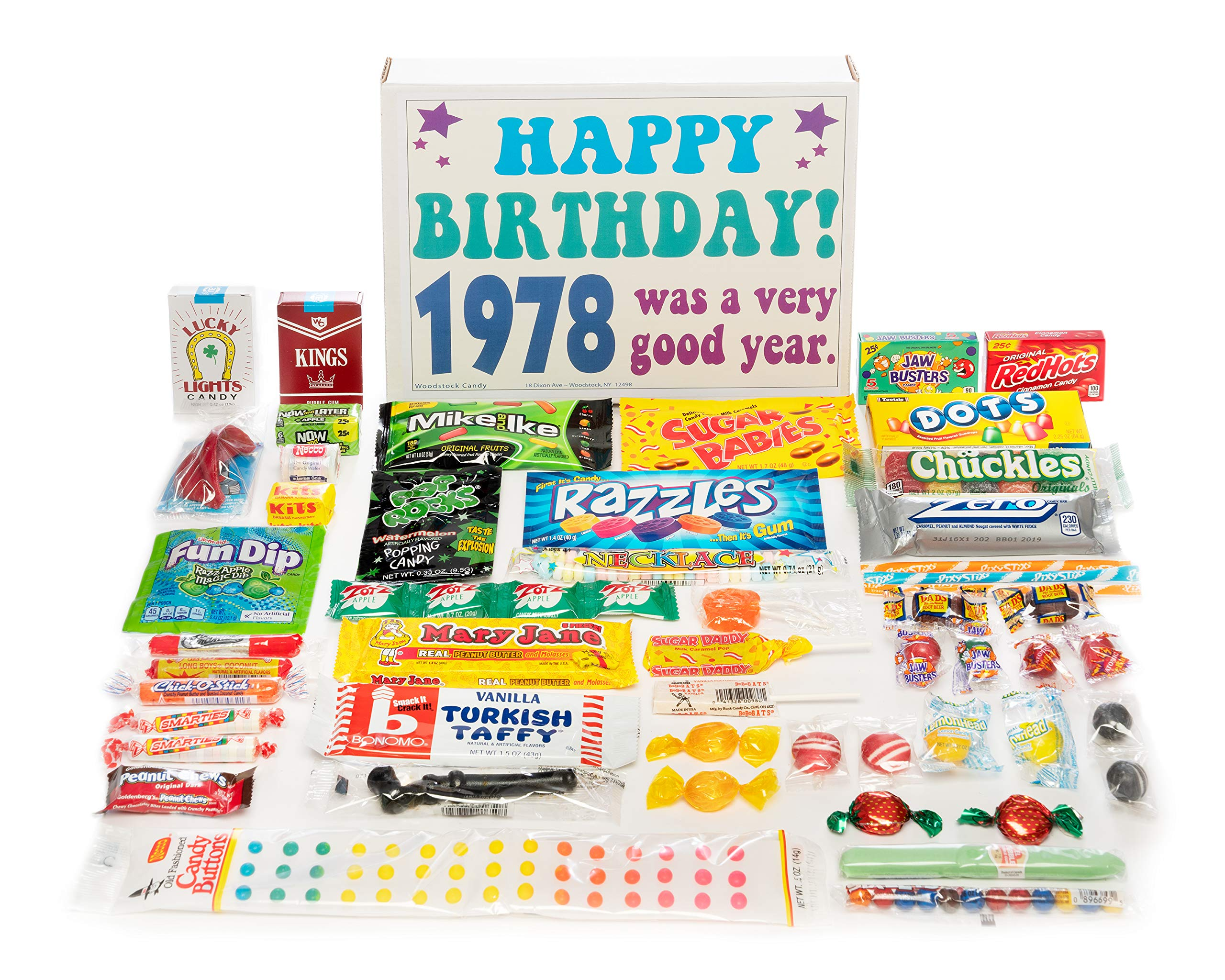 Woodstock Candy 1978 40th Birthday Gift Box Nostalgic Retro Assortment For 40 Year Old