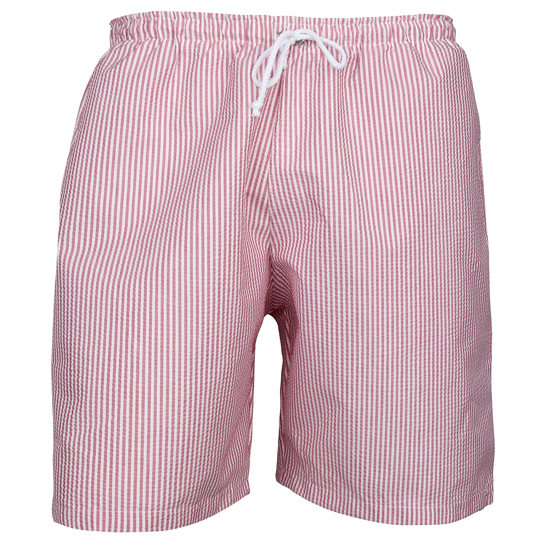 Lambert Puuper Men's Swimming Shorts-White / Red Stripe