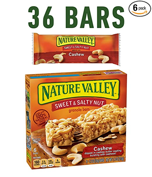 Nature valley granola bars sweet and salty nut cashew 6 bars nature valley granola bars sweet and salty nut cashew 6 bars 12 oz pack of 6 amazon grocery gourmet food ccuart Gallery