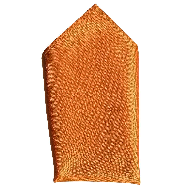 Full-Sized 16x16 140 Fine Orange Silk Pocket Square by ROYAL SILK