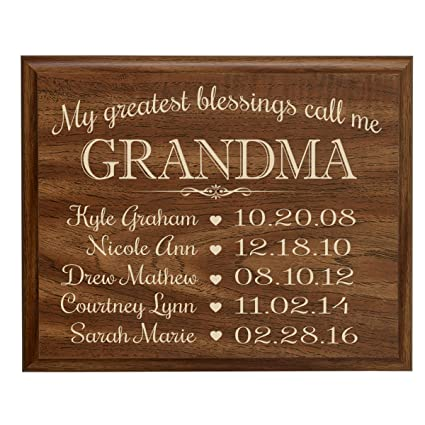 amazon com personalized gifts for grandma with family established