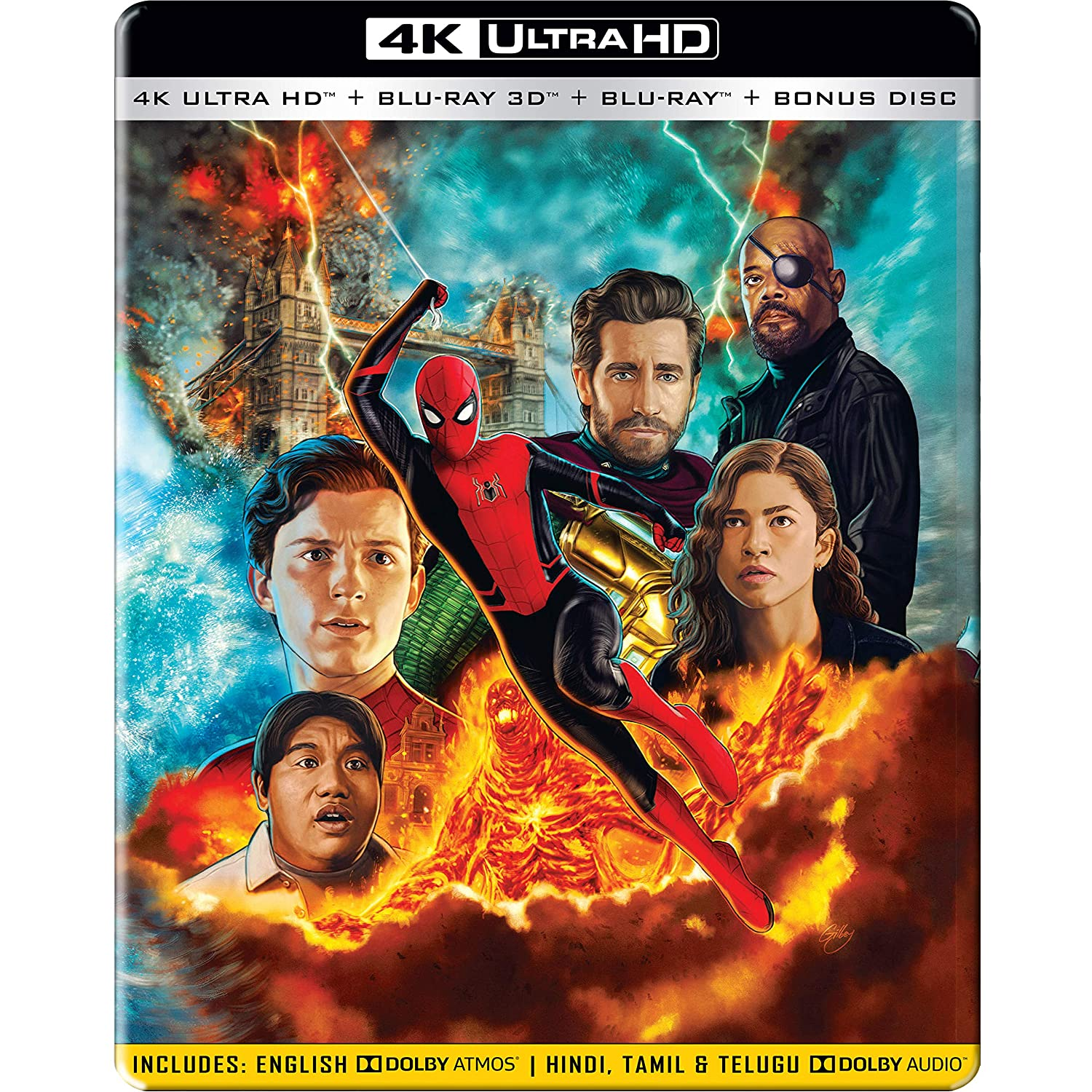 Spider-man: Far From Home (4K + 3D + Blu-ray) (STEELBOOK)