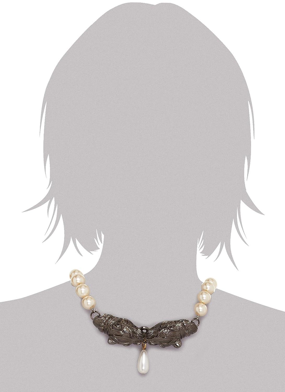 ff0a32aed5538 Amazon.com: Fallon Paulina Panther Head Faux Pearl Choker Necklace ...