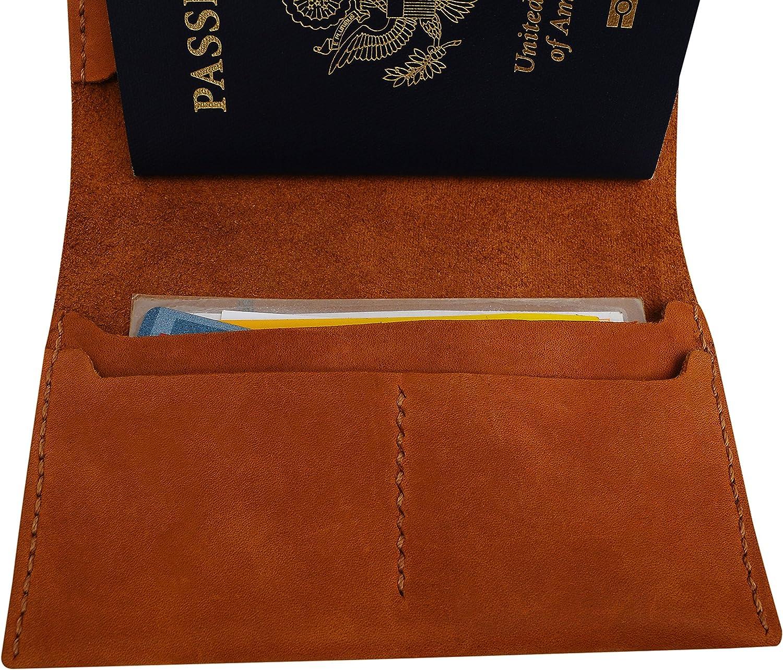 Funny Words Handmade Genuine Leather Passport Holder Case HLT/_01