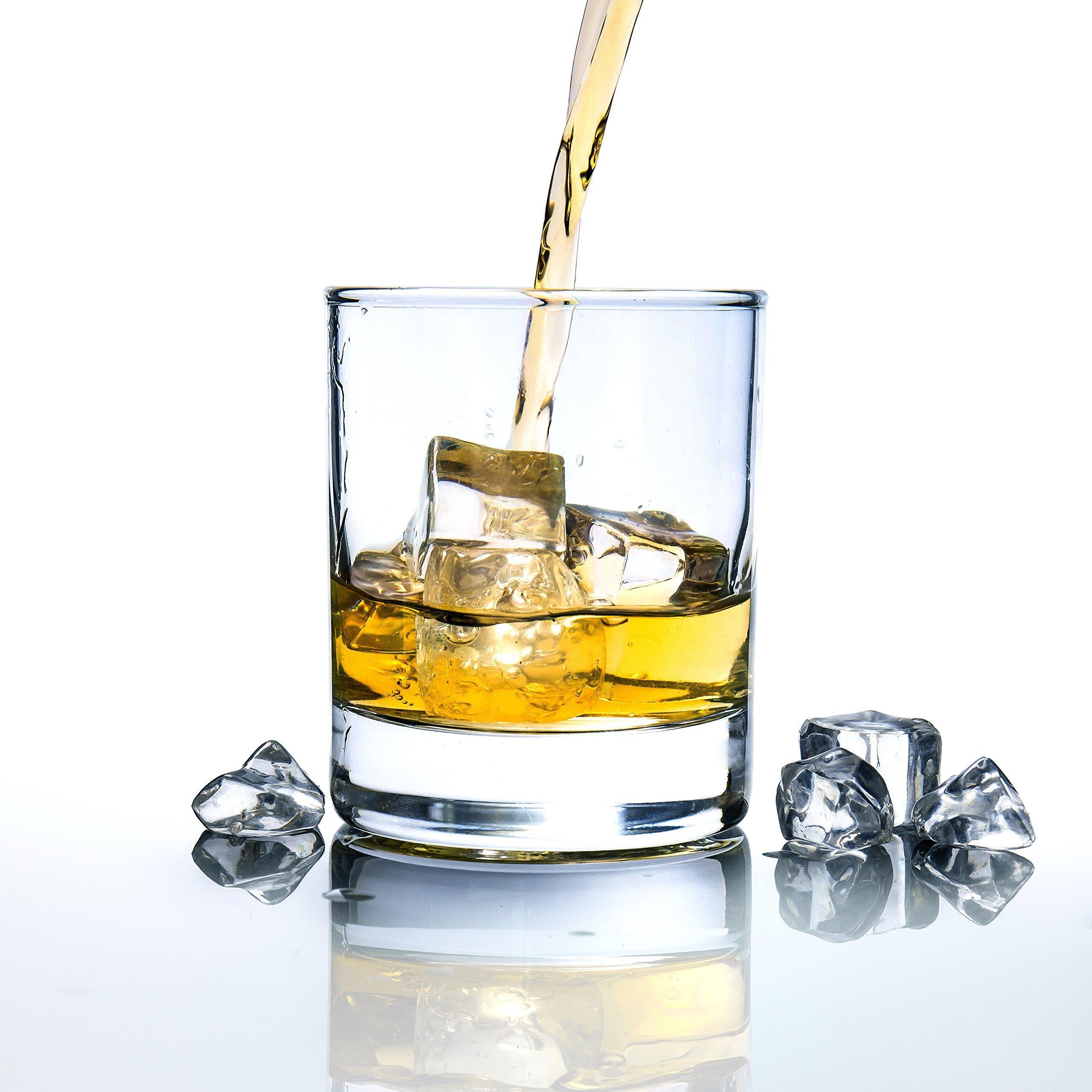 BIGA 10 oz Heavy Base Old-Fashioned Vodka/Scotch/Whiskey Glasses, Set of 6, Clear