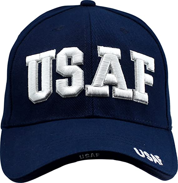 Custom Tshirts and Hats USAF Air Force Military Army Raised 3D Puff Active  Duty Navy Hat Ballcap Veteran