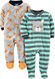 Simple Joys by Carter's Boys' 2-Pack Fleece Footed Sleep and Play