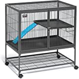 Midwest Deluxe Ferret Nation Double Unit Ferret Cage (Model 182) Includes 2 Leak-Proof Pans, 2 Shelves, 3 Ramps w/Ramp…