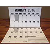 "Jumbo Large Print 2018 Wall Calendar 13-months, with January 2019 - 17"" x 11"", or hanging it is 17"" x 22"""