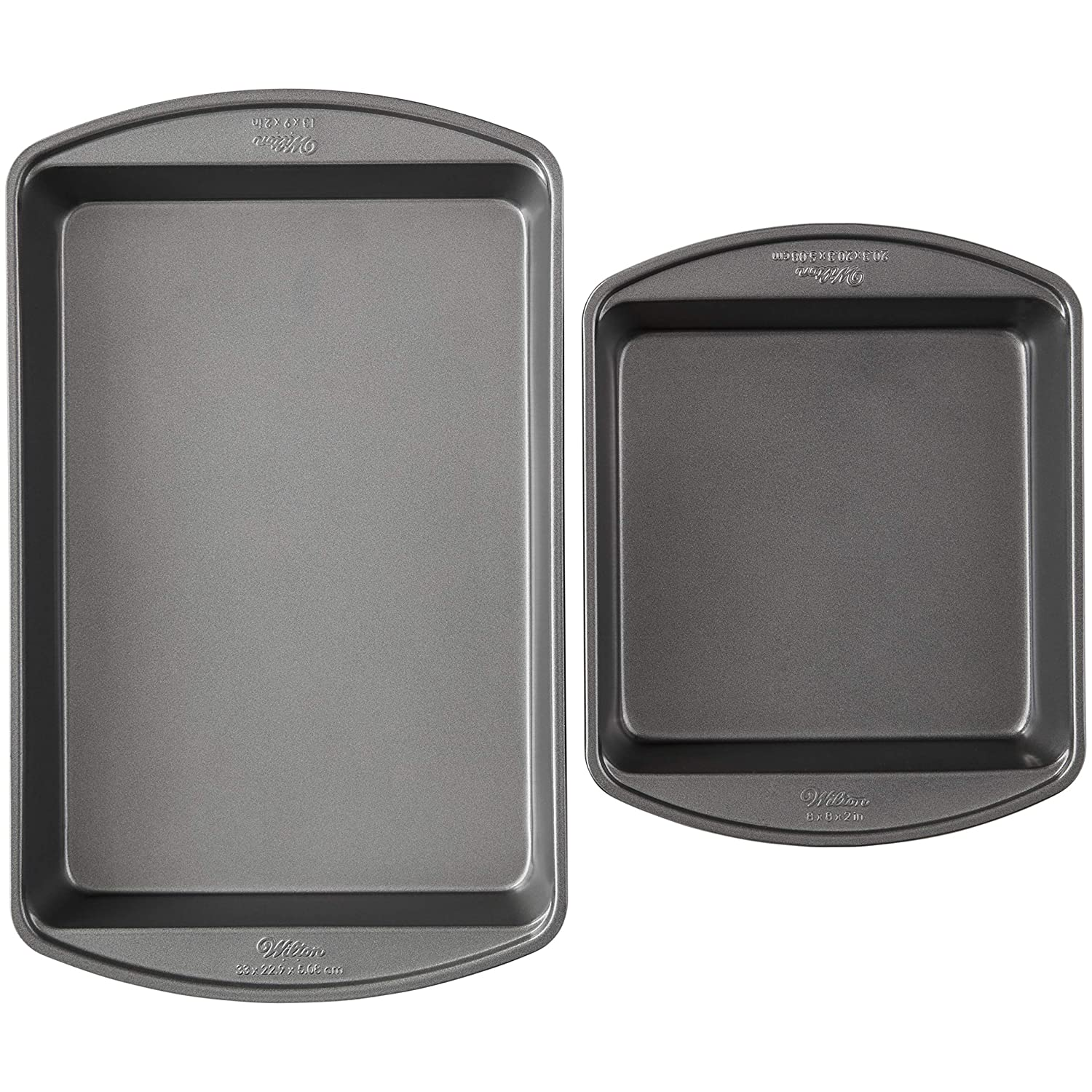 Wilton Perfect Results Premium Non-Stick Oblong and Square Cake Pan Set, 2-Piece