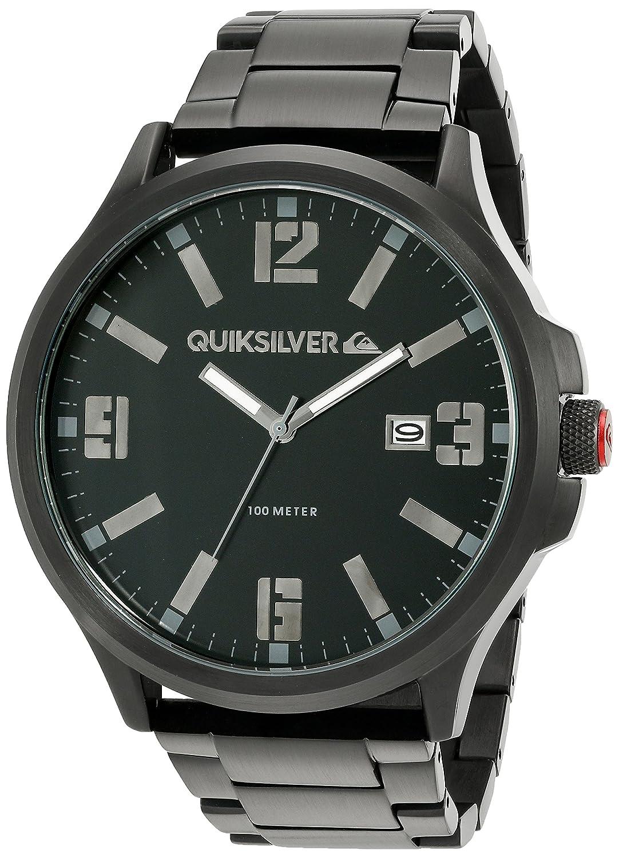 Quiksilver Herren-Armbanduhr The  Beulka Analog Edelstahl Schwarz QS-1002BKTI