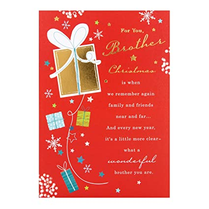 hallmark brother christmas card wonderful brother medium