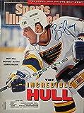 Hull, Brett 3/18/91 autographed magazine