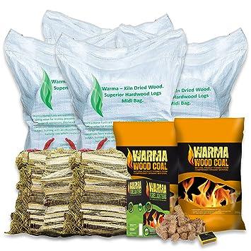 Warma® Valor Mixed combustible Pallet – 200 kg secado en horno aliso troncos, 200
