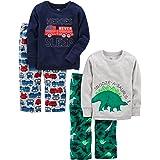 Simple Joys by Carter's - Conjunto de Pijama de 4 Piezas para bebé, diseño de Dinosaurio/camión de Bomberos, 5T