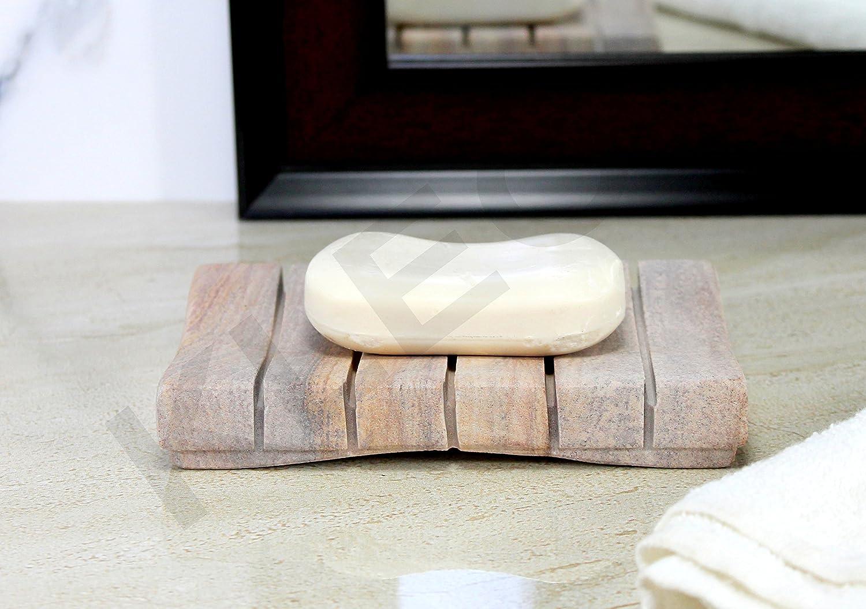 Jabonera de piedra artesanal natural KLEO - accesorios de baño - baño baño, cocina, lavadero