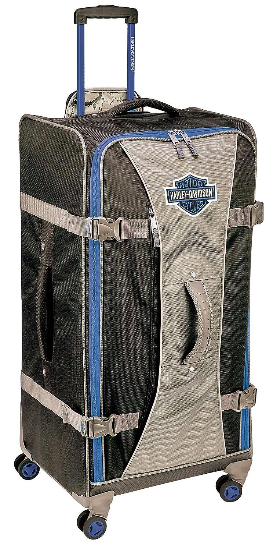 Harley-Davidson スーツケース B07HG8HPKK ブルー/ブラック