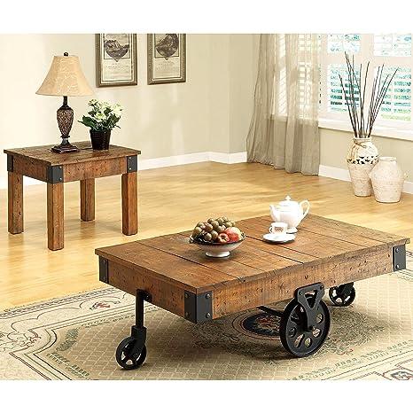 Amazon.com: Una línea Muebles rústico industrial Wagon ...
