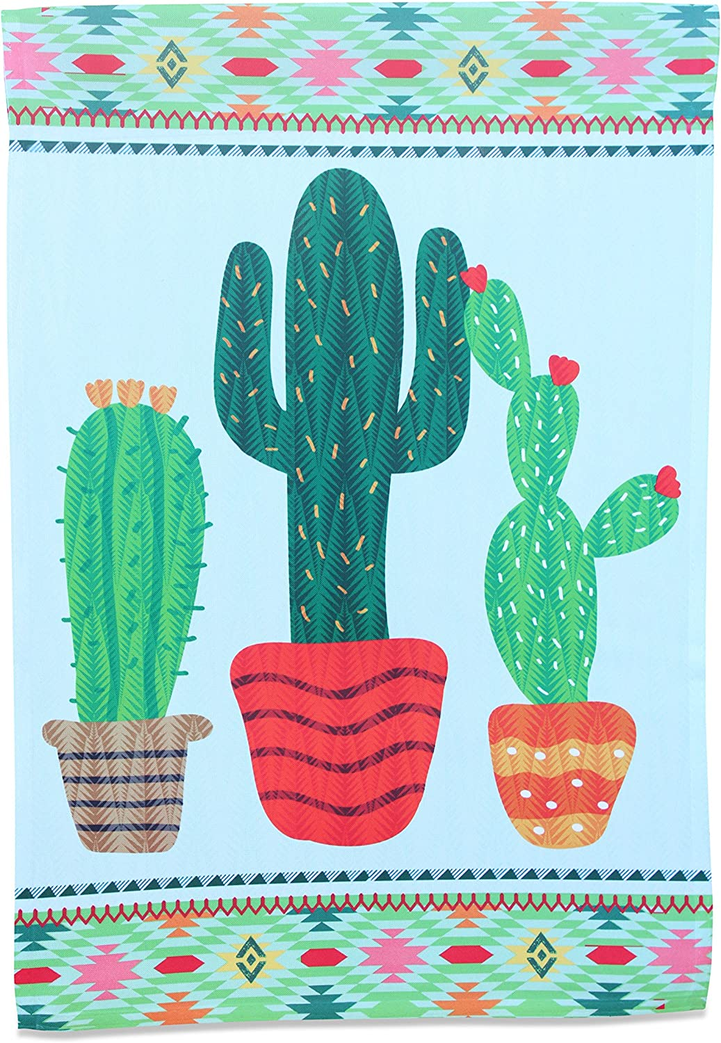 Cactus Garden Flag; Southwest Home Decor Small Mini Vertical Banner; Polyester Outdoor Succulent Picture Yard Lawn Decorative; Spring Summer Seasonal Artwork; Theme Party Decoration; 12.5 x 18 inches
