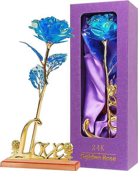 ANNIVERSARY GIFT PRESENT 24K COLORFUL LOVE GOLDEN ROSE ANNIVERSARY WEDDING