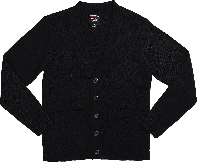 French Toast School Uniform Boys Anti-Pill V-Neck Cardigan Sweater 4//5 Burgundy X-Small