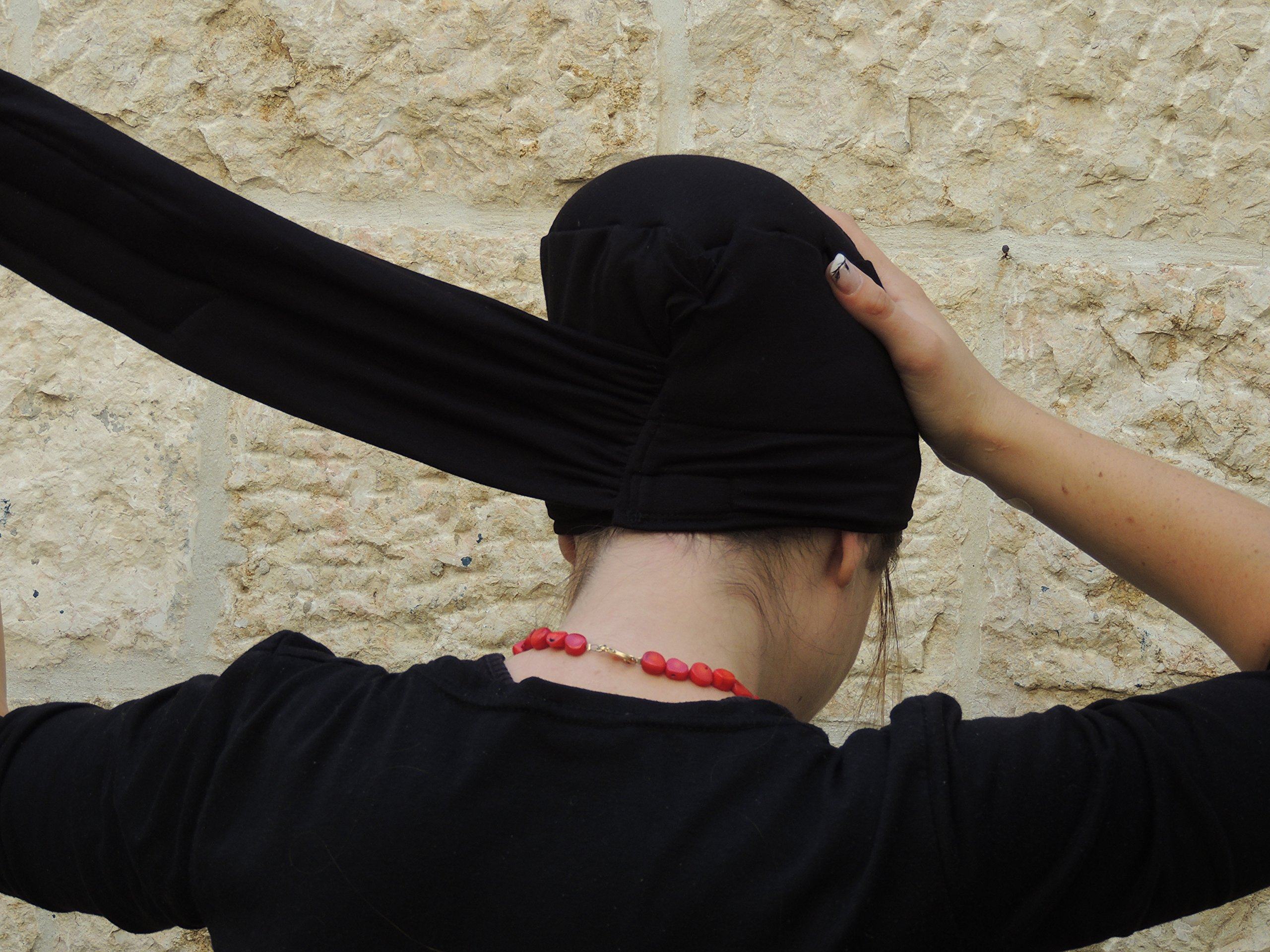 Sara Attali Design Tichel Volumizer Head Scarves, Chemo Volumizing Super Plus Black by Sara Attali Design (Image #3)
