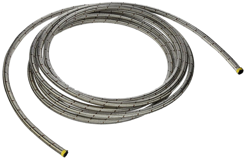 Earl's 420006 Perm-O-Flex Stainless Steel Braid -6AN Rubber Hose - 20 Feet Earl' s Performance 9.5163G
