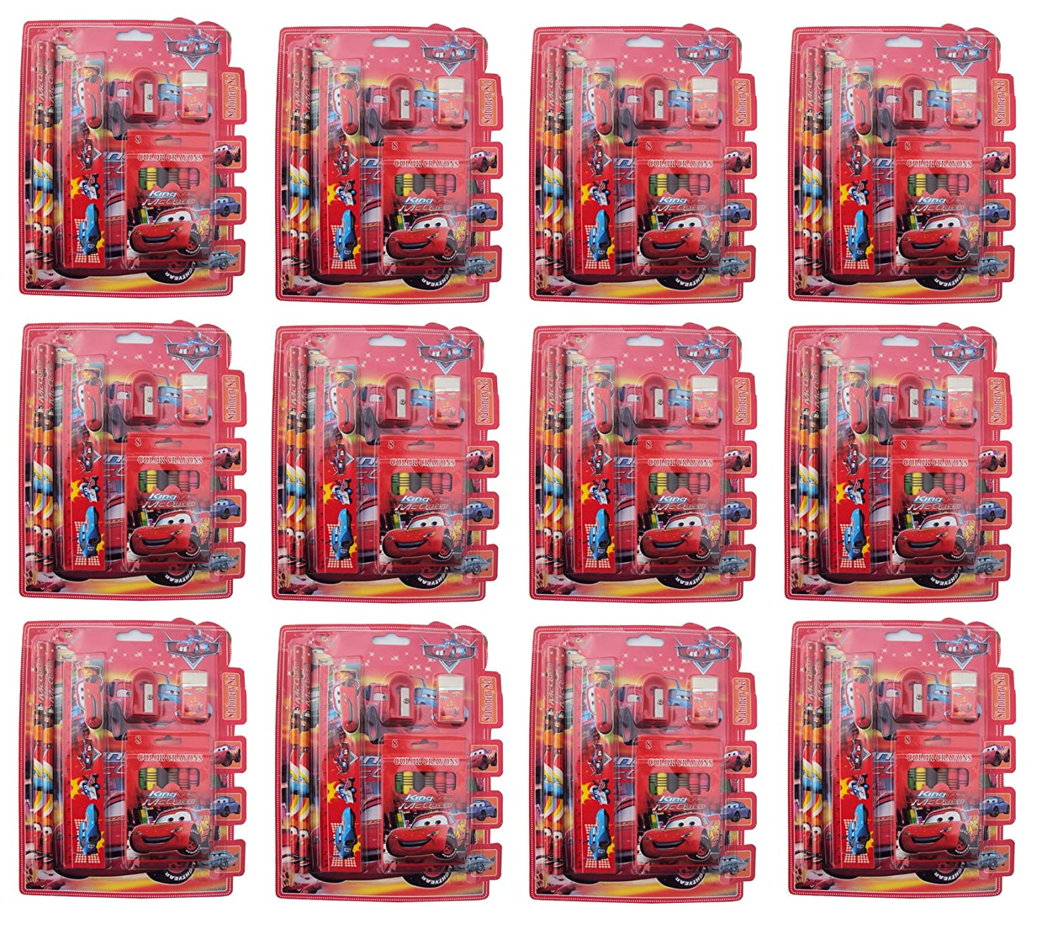 Asera Cars Stationery Gift Pack For Kids Set Of 12 Birthday Return Gifts Theme Party Amazonin Toys Games