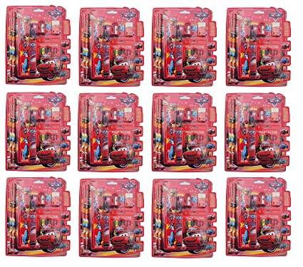 Asera Cars Stationery Gift Pack For Kids Set Of 12 Birthday